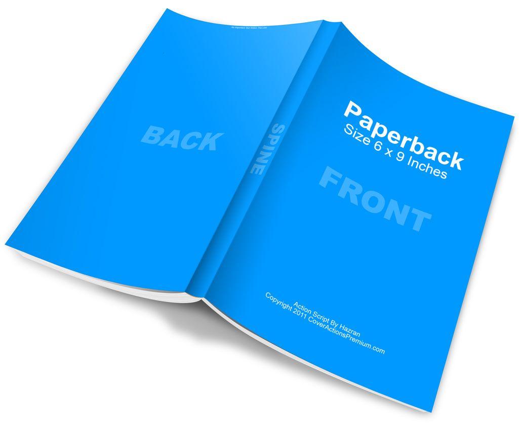 Free Mockup- Spread Open Paperback Book