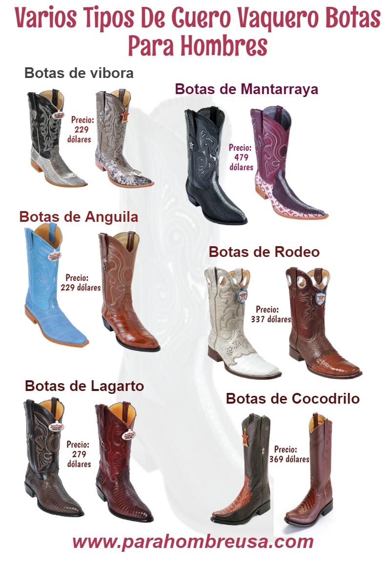 Varios tipos de cuero con estilo botas de vaquero para hombres con precios  asequibles de parahombreusa.com af863194f63