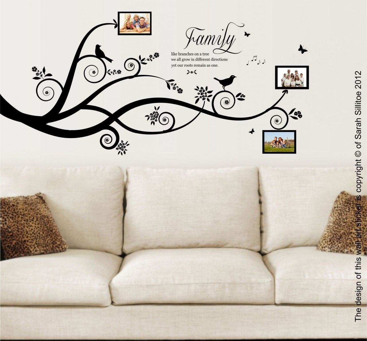 Family Tree Vinyl Wall Art Sticker Decal Family Tree Wall Art Family Tree Mural Sticker Wall Art