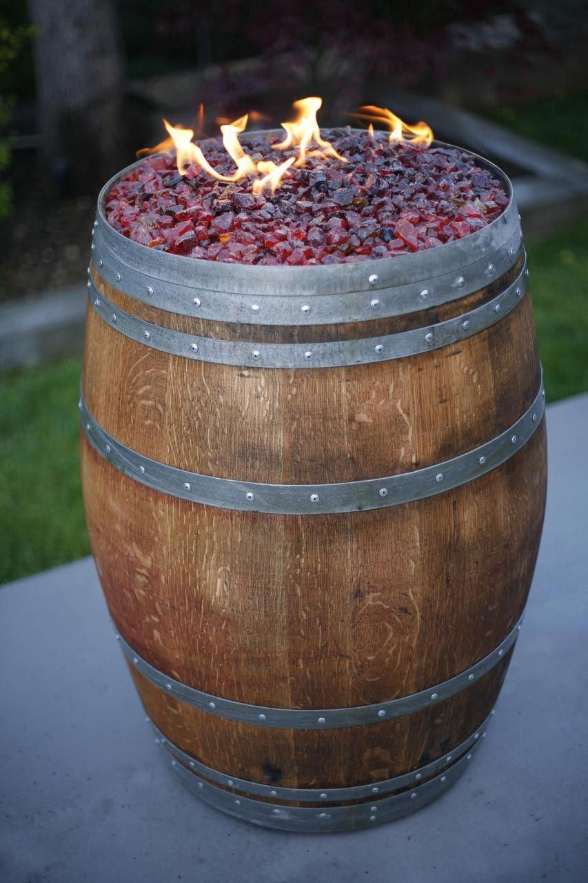 Wine Barrel Fire Pit Kit Fire Pit Landscaping In 2019 Wine Barrel Fire Pit Barrel Fire Pit Fire Pit Table