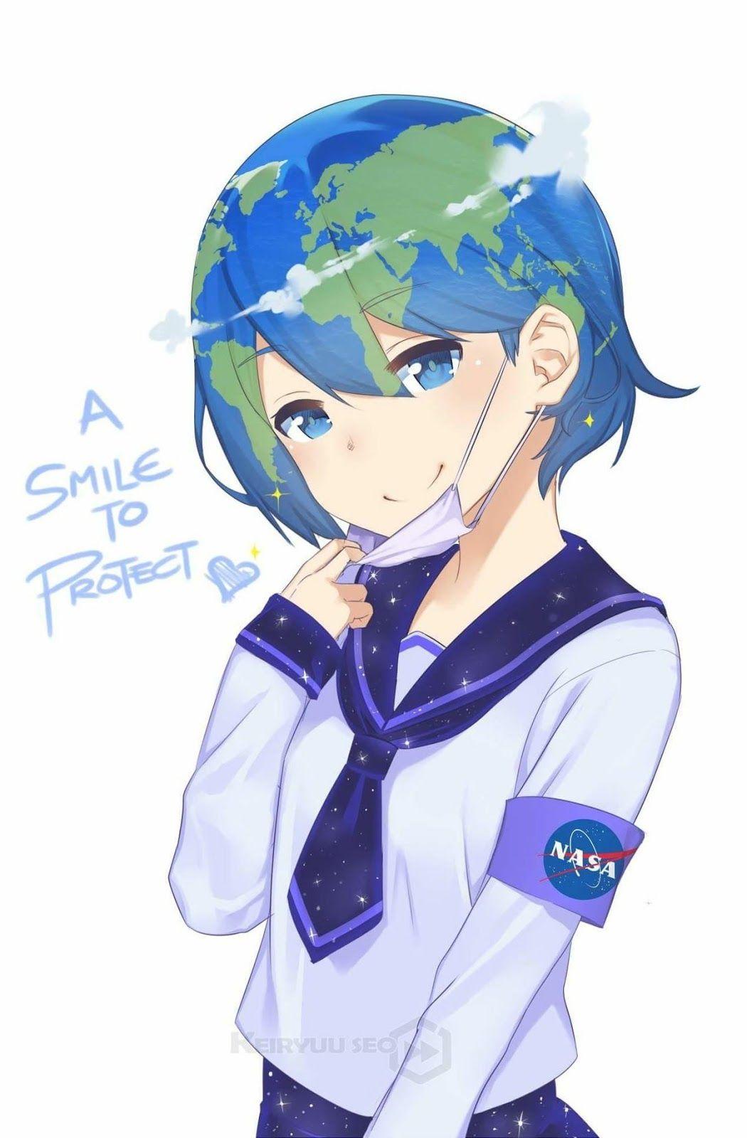 Earth-Chan  ImajiBlog  Animasi, Gadis animasi, Komik