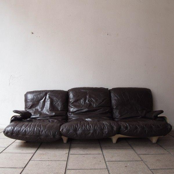 michel ducaroy ligne roset canap 3 places mod le marsala dessin en 1970 salle de vente. Black Bedroom Furniture Sets. Home Design Ideas