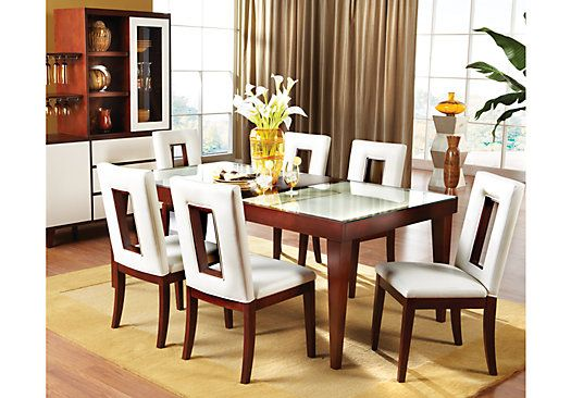 shop for a zamora 7 pc diningroom at rooms to go find dining room rh pinterest com
