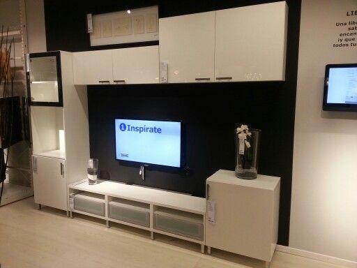 Sleek, modern media center by Ikea