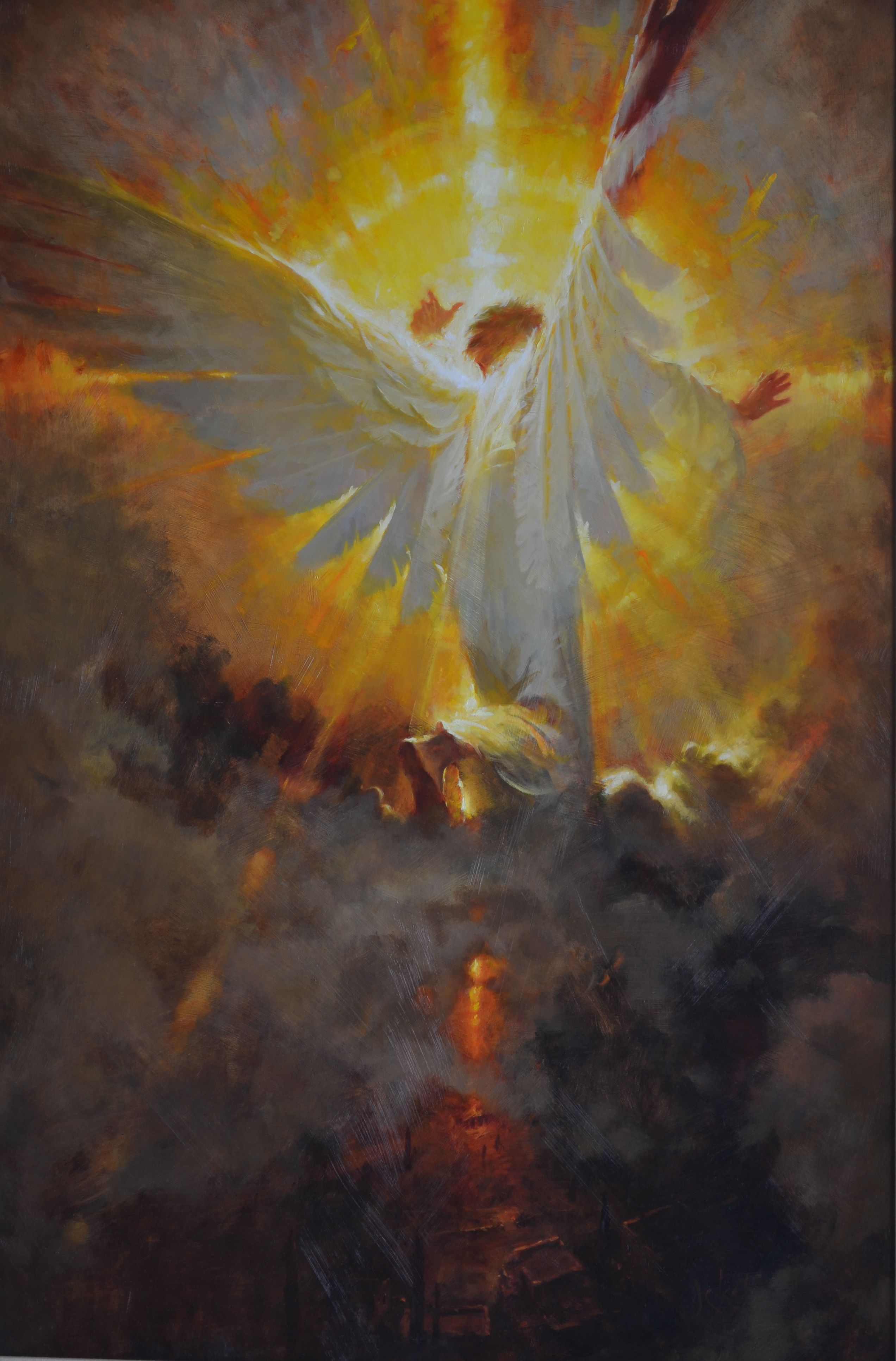 Brian Jekel Star of Wonder Oil on Panel 24 x 36 inches | Angel, Angel art, Angel pictures