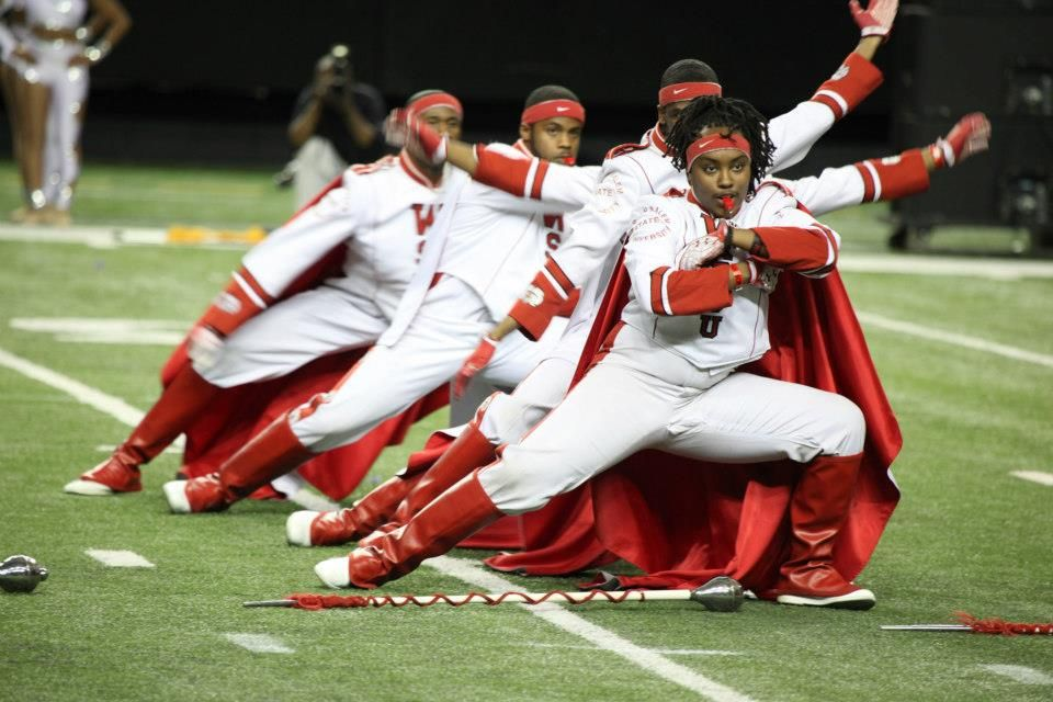 Wssu Red Sea Of Sound Marching Band At The 2013 Honda Battle Of The Bands In Geor Historically Black Colleges And Universities Historically Black Colleges Hbcu