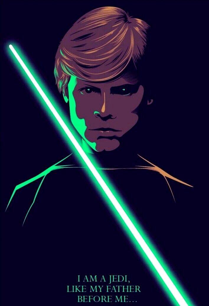 Jedi Knight Luke Skywalker Star Wars Trilogy Poster Star Wars Artwork Star Wars Art