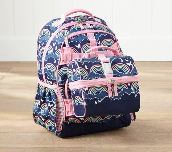 Mackenzie Hot Pink Hibiscus Backpack Pottery Barn Kids
