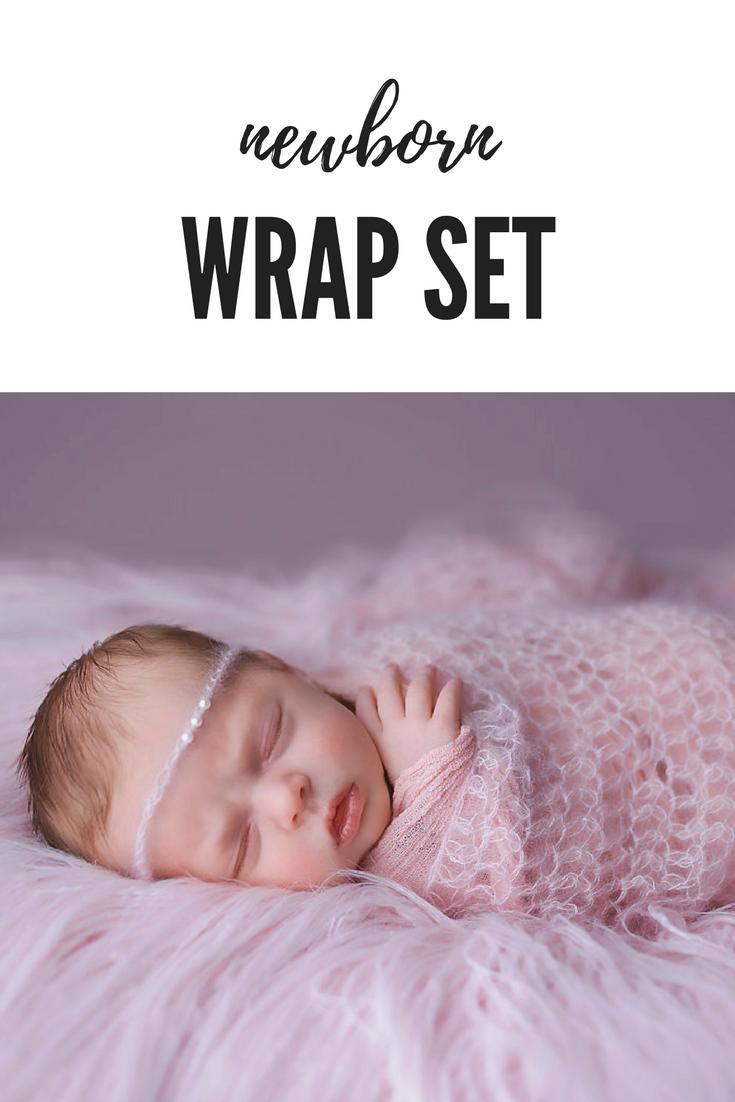 Pink - Wrap Mohair Newborn Photoset Newborn Photoshoot Photo Props Baby Hairband