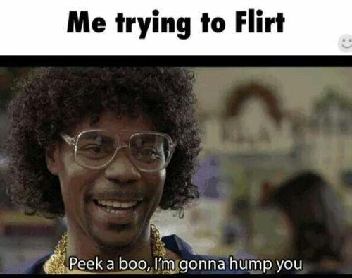 Frau flirtet mit mir