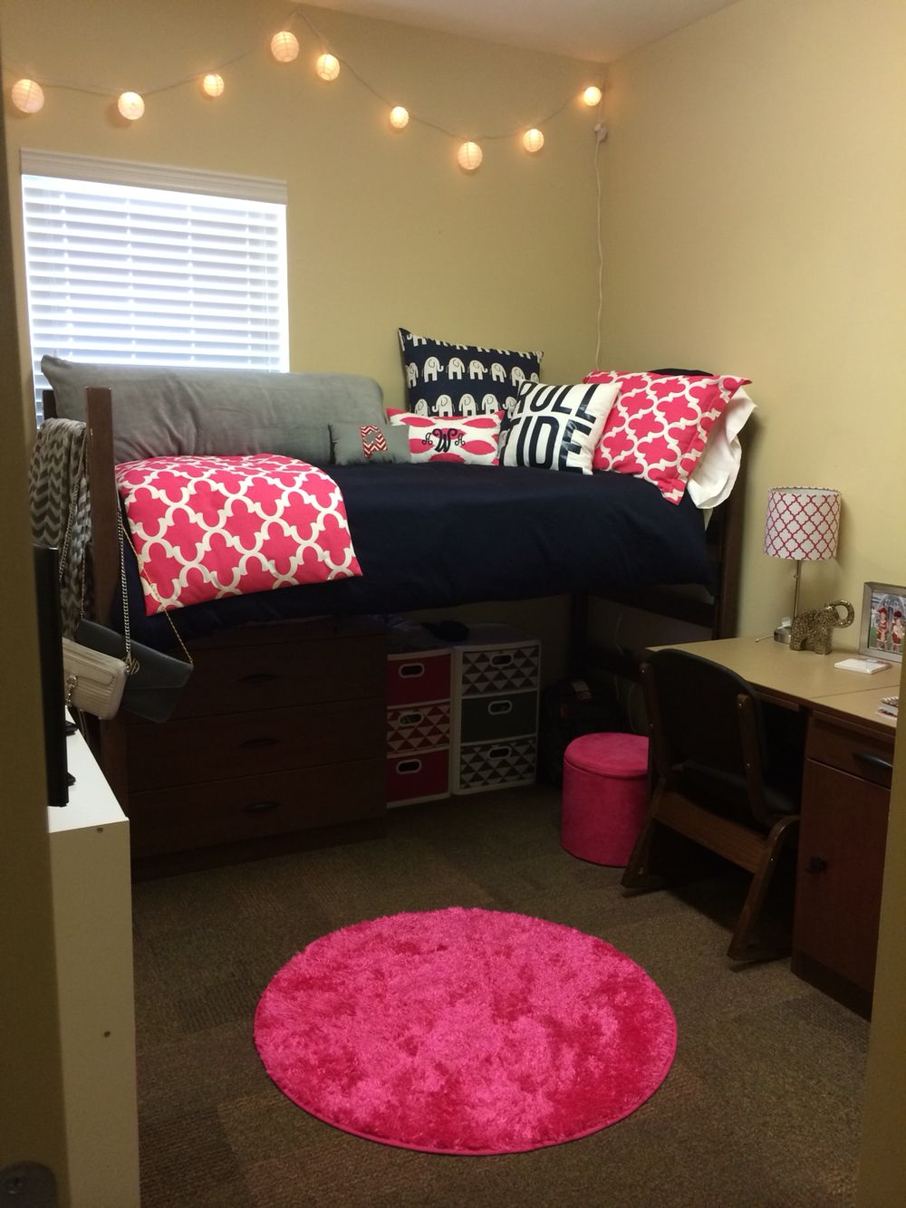 Stool but not sure of the bed do you like it too 2 princess bedroom - D Cor 2 Ur Door Elephant Dorm Room Bedding University Of Alabama Www Decor 2