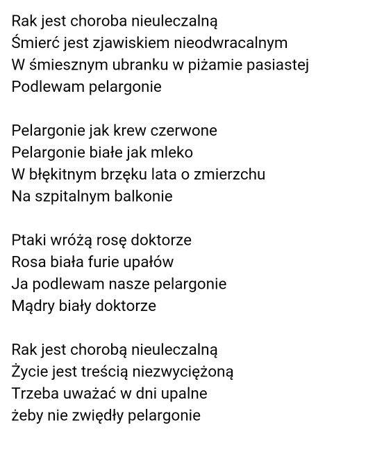 Andrzej Bursa Wiersze Inspirujące Słowa I Poezja