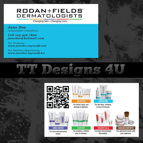 Rodan Fields Business Card For