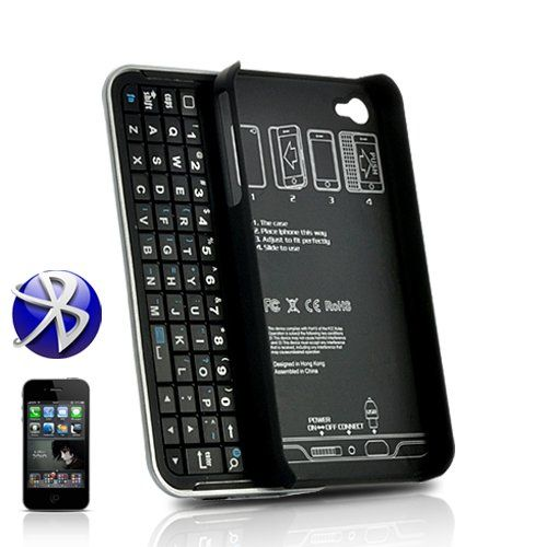 I only have two gripes about the iPhone (well any touch screen phone) - this case with a BT keyboard fixes one of them.