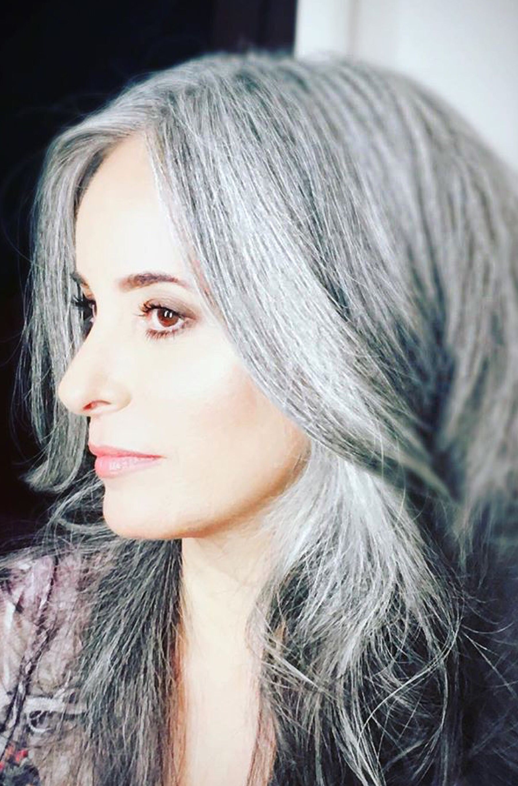 Long Grey Hairstyles Mesmerizing Pinchelin On Grey Grace  Grey Grace  Pinterest  Gray Hair