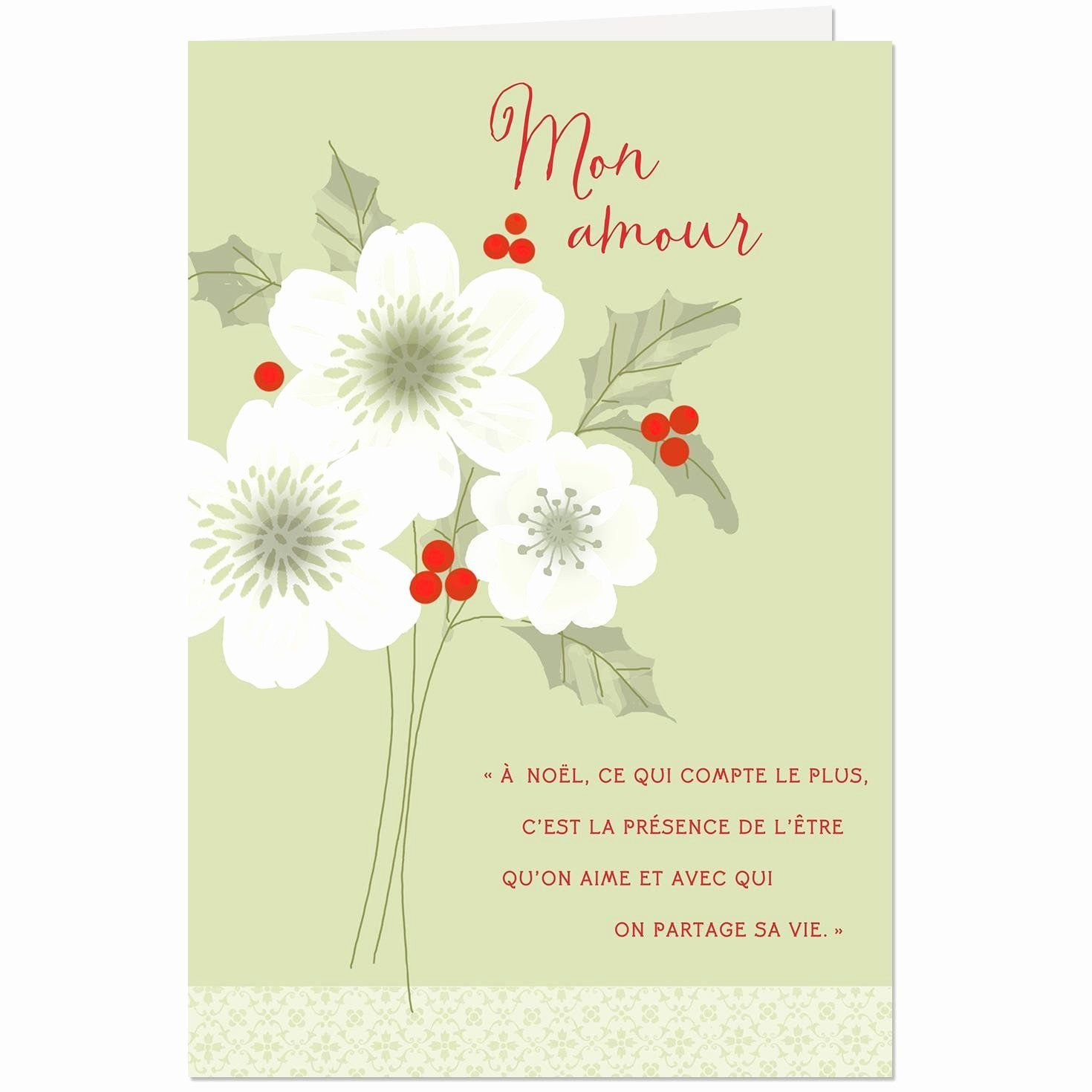 Hallmark Love Cards Luxury My Love French Language Romantic Christmas Card Christmas Cards Romantic Christmas Love Cards