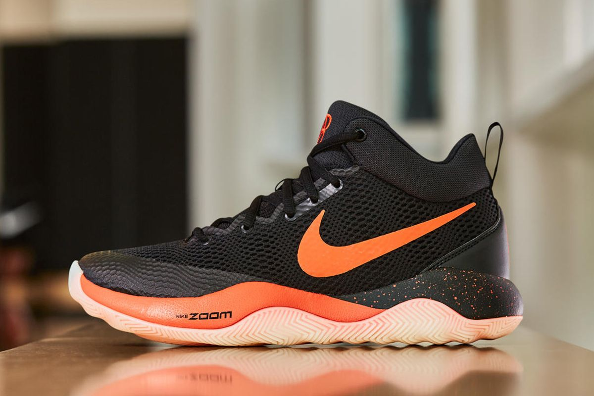 Nike Basketball has fitted the Zoom Rev 2017 in black with orange accents  for Phoenix Suns