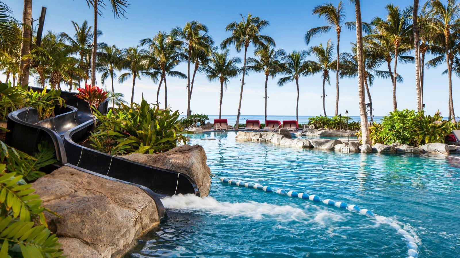 Sheraton Waikiki Beach Pool Slide