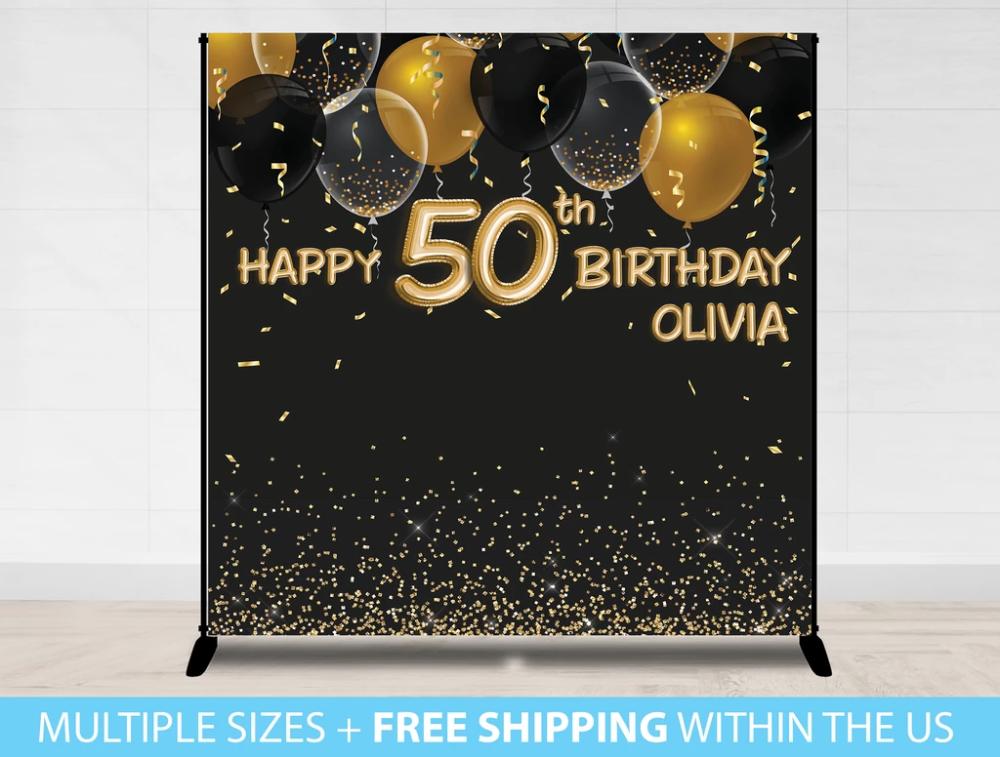 Birthday Backdrop Banner Birthday Backdrop Banner Backdrop 50th Birthday Party Themes