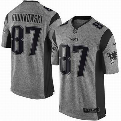 0ba4a7fa415 Nike New England Patriots 87 Rob Gronkowski Gray Limited Gridiron Jersey    22.5