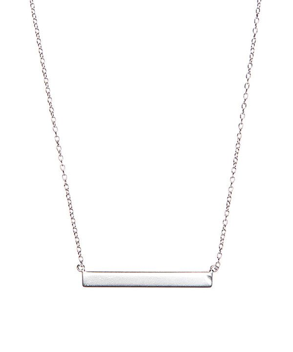 Look at this Sterling Silver Bar Pendant Necklace on #zulily today!