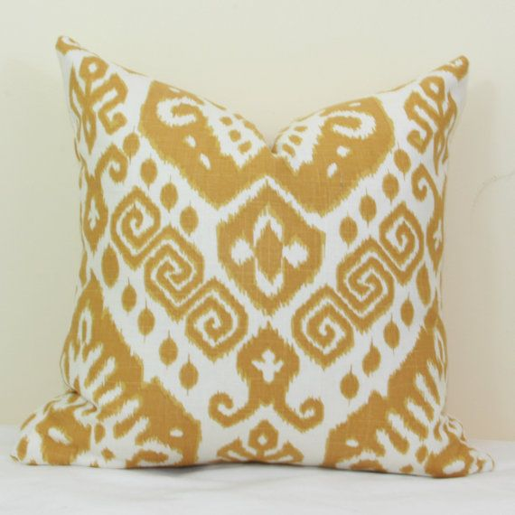 22X22 Pillow Insert Alluring Gold Ikat Pillow Cover 18X18 20X20 22X22 24X24Joyworkshoppe Review