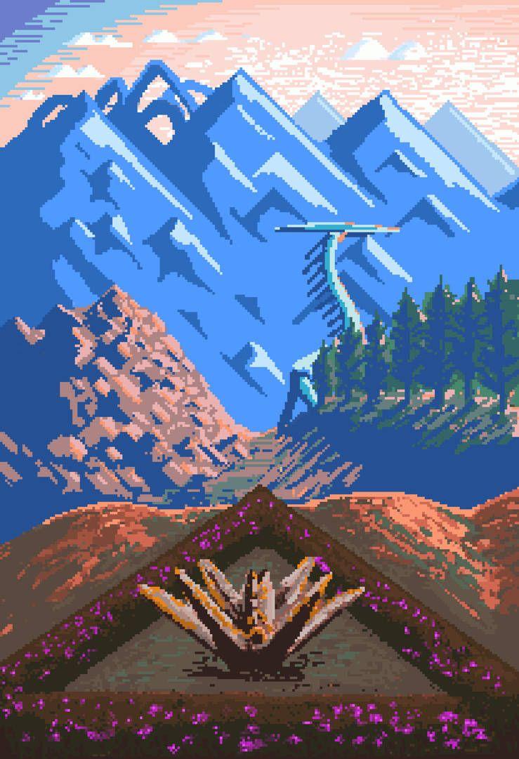 Horizon Pixel Dawn by tombaconart on DeviantArt