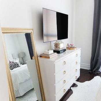 Dresser With Tv Above Mirror Next To Not Sure If There S Enough