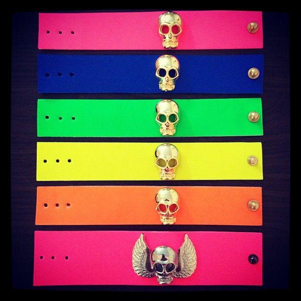 #skull Bracelet # neon