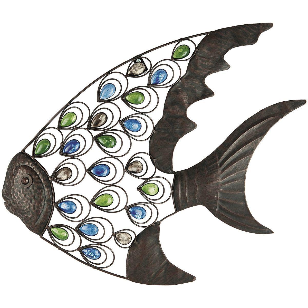Usa gardman tropical fish wall art grey metal pinterest fish