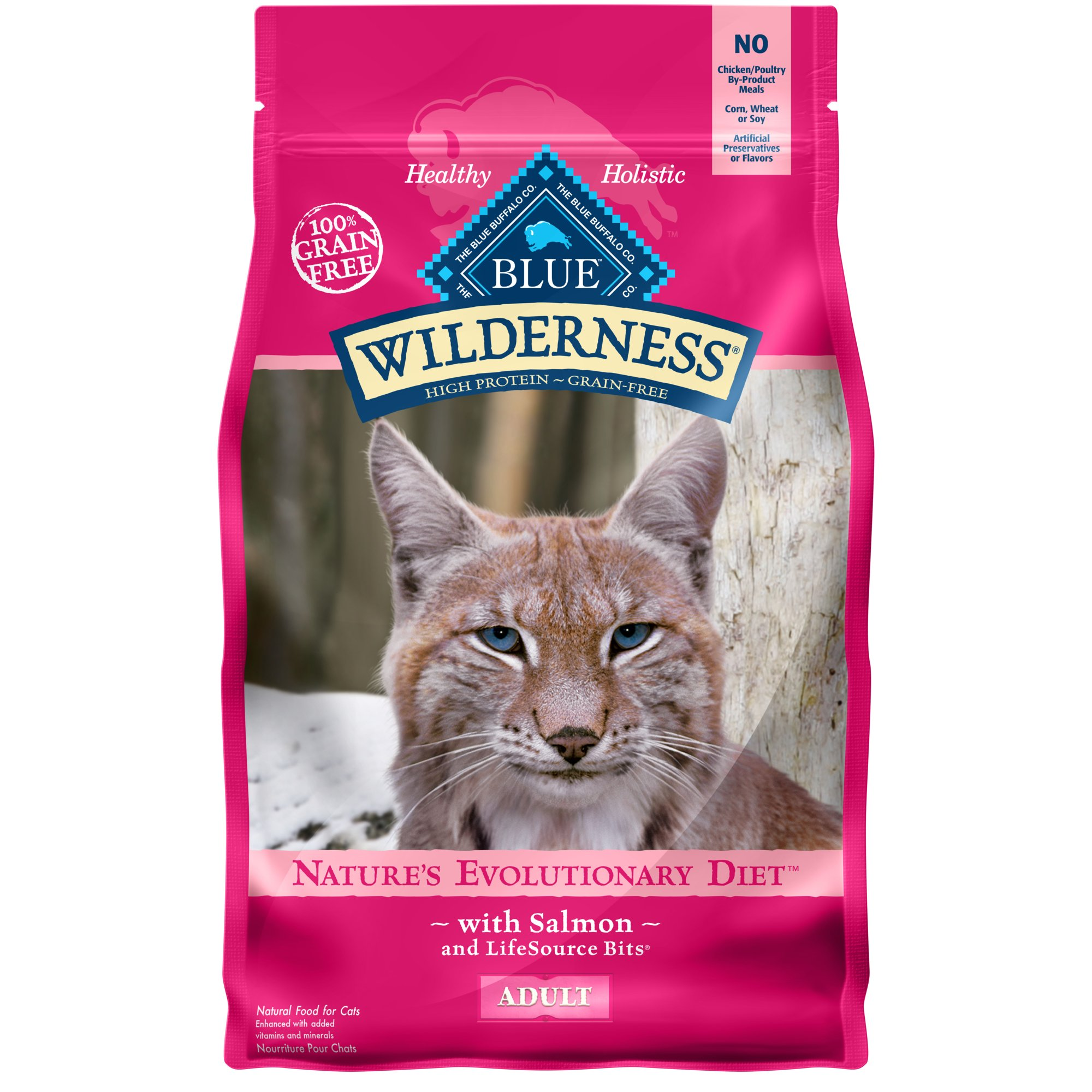 Blue Buffalo Blue Wilderness Adult Salmon Recipe Dry Cat Food 5