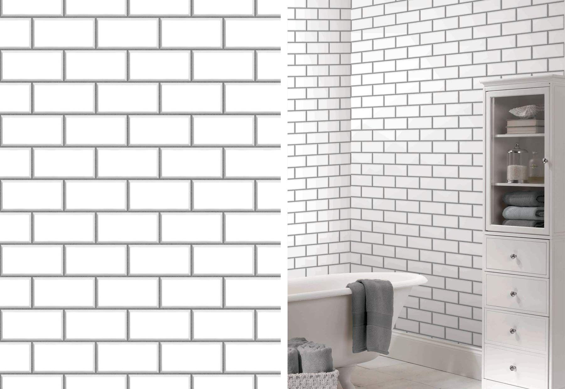 Ceramica New York Subway Tile Brick Wallpaper By Fine Decor Fd40138 Brick Effect Wallpaper Brick Wallpaper New York Subway