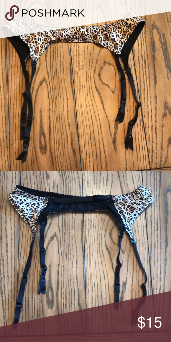 3e1407d424e NWOT Victoria Secret leopard print garter belt Adjustable never worn garter  belt. New condition Victoria s Secret Intimates   Sleepwear