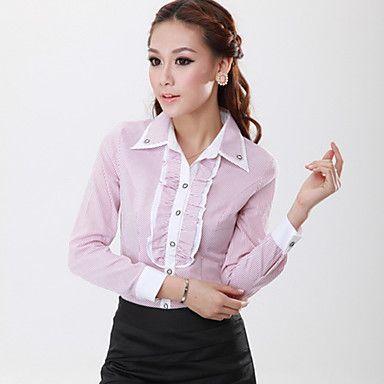 rayas de la mujer delgada camisa blusa – EUR € 17.32