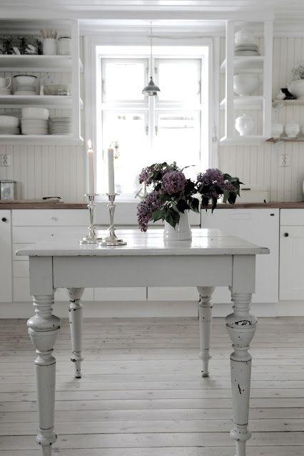 Esszimmer im romantischen Landhausstil, Küche, Einrichten, Wohnen
