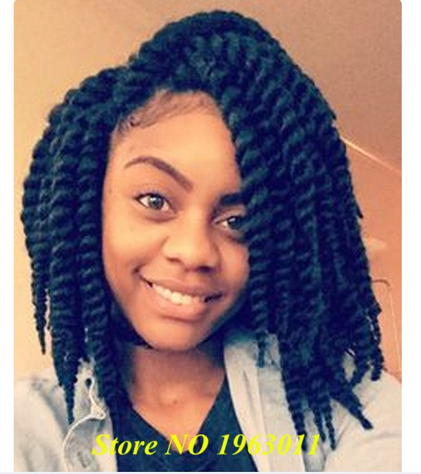 12inch Havana Mambo Twist Crochet Braids Xpression Blue Synthetic