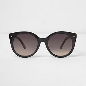 Womens Black cat eye smoke lens sunglasses River Island JOb8G
