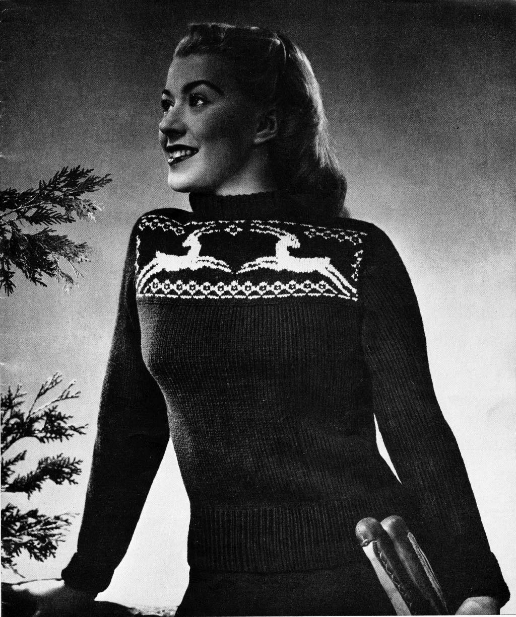 The Vintage Pattern Files: 1940s Free Knitting Pattern - Antelope ...