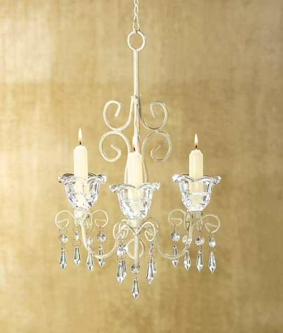 Shabby Chic Candle Chandelier Candleholdershanging