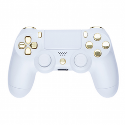Playstation 4 Controller -Piano White  Gold PS4 ps4 http://xboxpsp.com/ppost/502714377141101763/