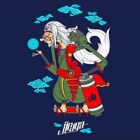 jiraya chinese art version Kartun, Gambar awan, Gambar