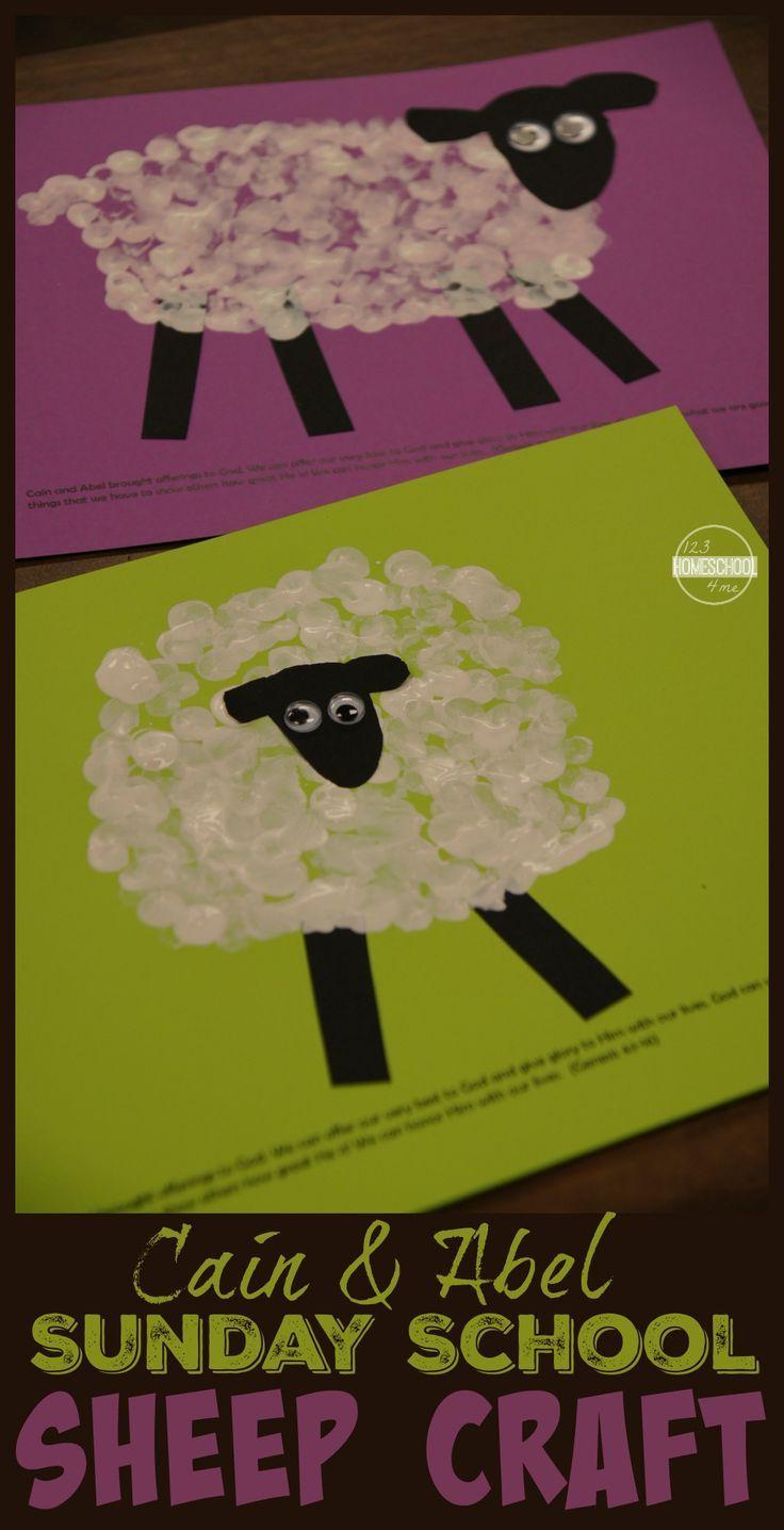 Cain & Abel Bible Sheep Craft | Sheep crafts, Bible crafts and ...