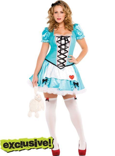 Women's Wonderful Alice Plus Size Costume with Headband ...