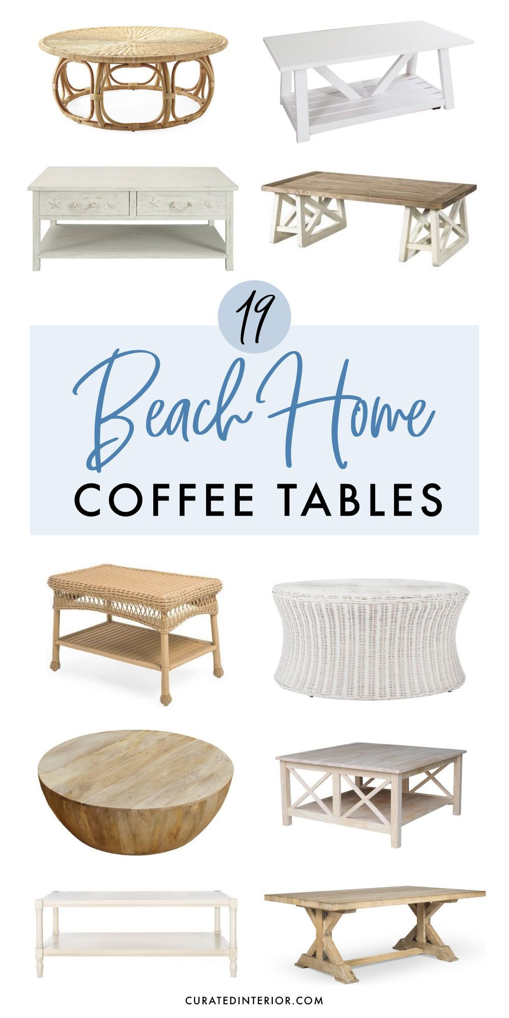 19 Coastal Coffee Tables For Your Beach Home Coffee Table