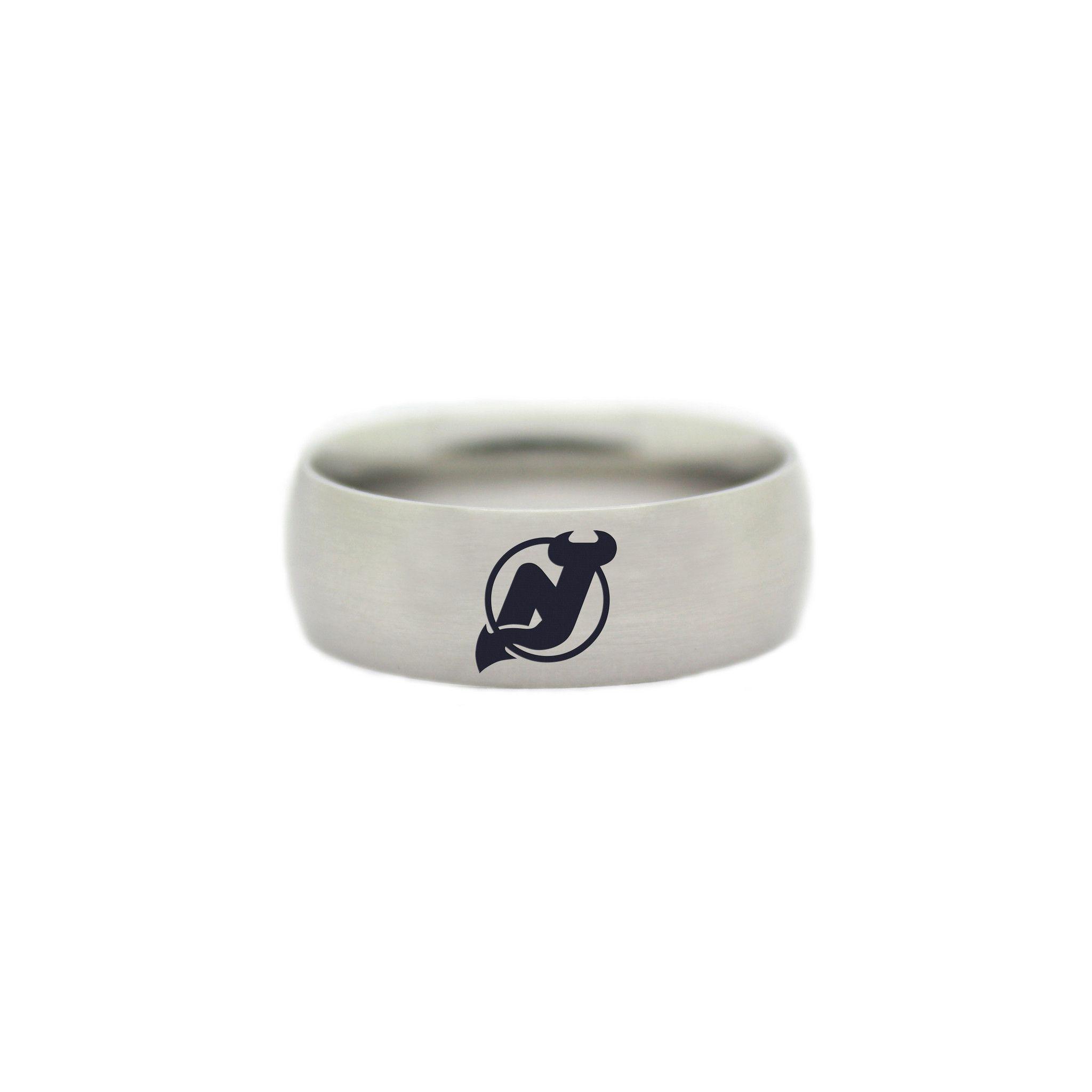 New Jersey Devils Ring Nhl Wedding Band