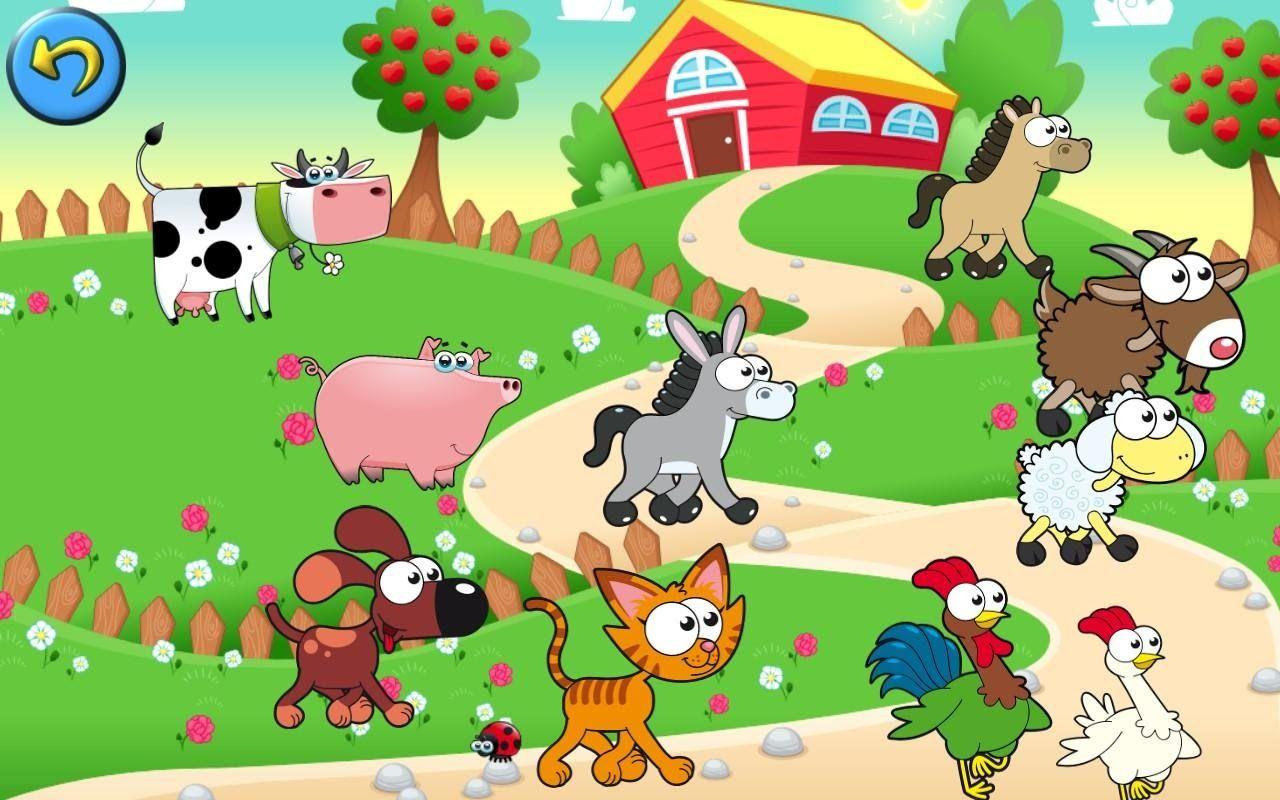 Animals De La Granja Dibujos De Animales Rompecabezas Infantiles Granja Dibujo