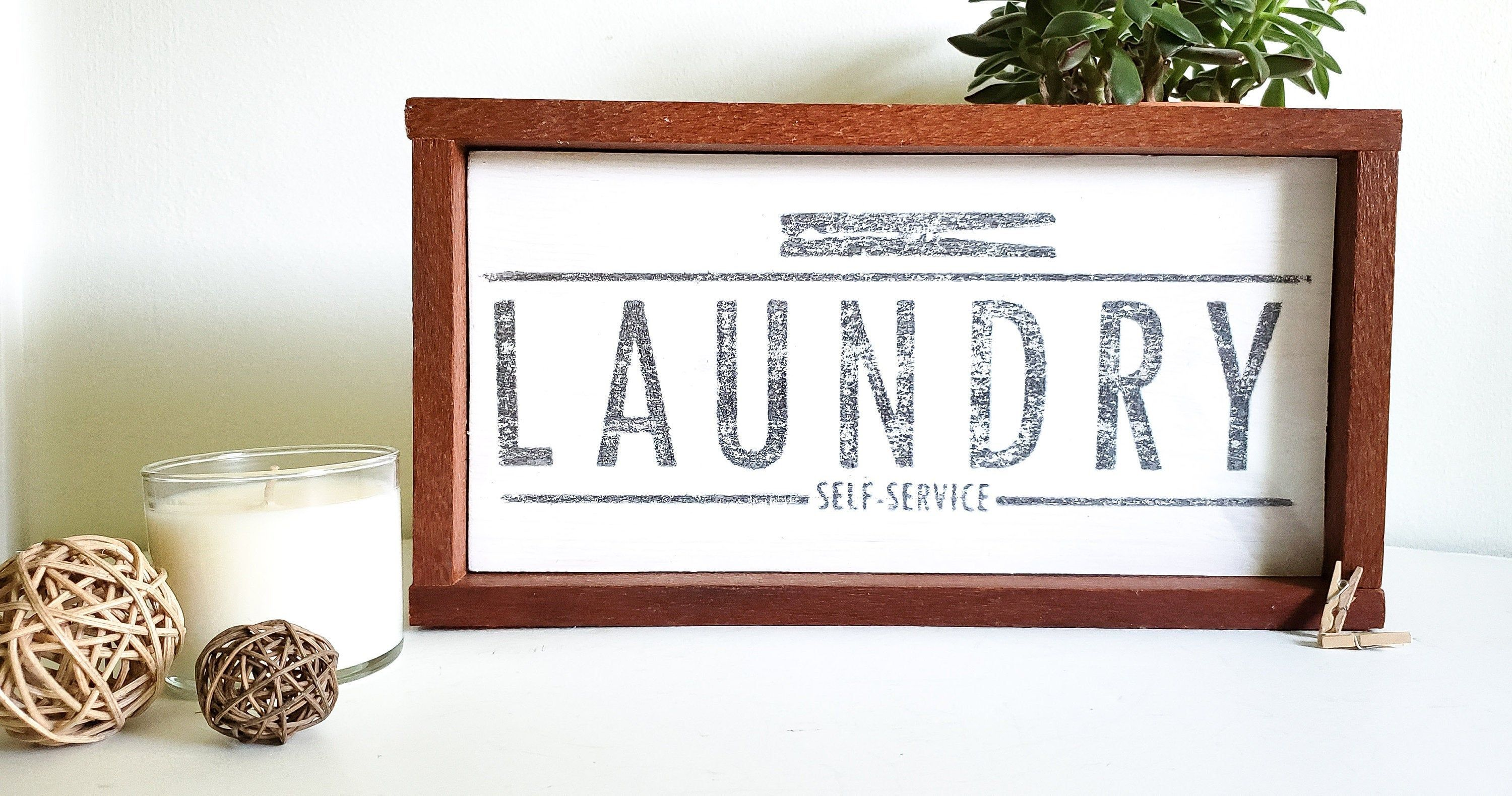 Laundry Self Service sign//Laundry sign//laundry room sign