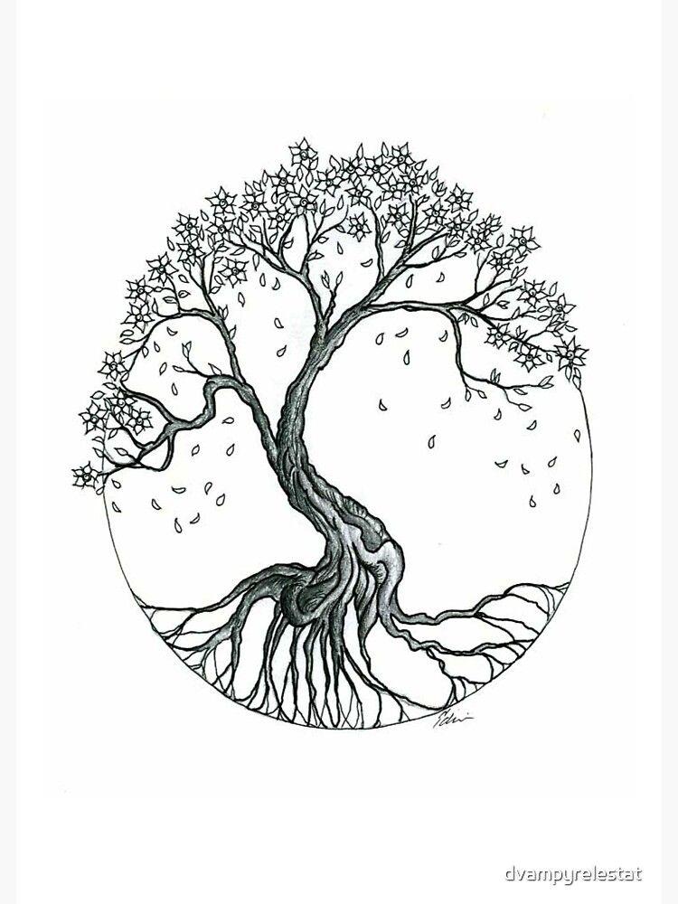 Abstract Cherry Blossom Tree Sticker By Dvampyrelestat Willow Tree Tattoos Tree Tattoo Arm Oak Tree Tattoo