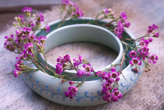 Lovely Green And Blue Pansy Ring Vase Pansies Vase Lovely