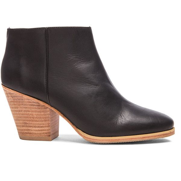 Rachel Comey Mars Leather Booties ($402) ❤ liked on Polyvore